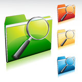 Recherche-Faltblatt-Ikone Stockfotografie