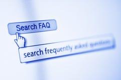 Recherche FAQ-Taste stockbilder