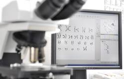 Recherche génétique photographie stock