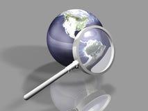 Recherche globale Photographie stock libre de droits