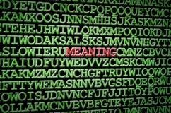 Recherche la signification image stock