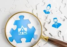 Recherche le logement Photos libres de droits