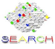 Recherche-Motoren auf Internet vektor abbildung