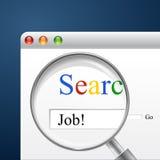 Recherche nach Job Lizenzfreie Stockfotos