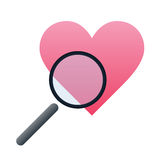Recherche nach Liebesvektorsymbol Stockfotos