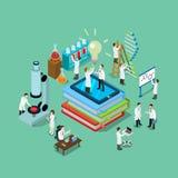 Recherche pharmaceutique chimique de la science 3d plate Photos stock