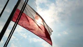 Recherche polonaise et hélicoptère de délivrance volant au-dessus de la situation de surveillance de mer baltique banque de vidéos
