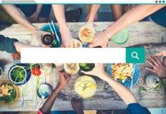 Recherche recherchant l'Internet de l'information partageant le concept Photographie stock