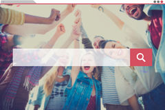 Recherche recherchant l'Internet de l'information partageant le concept Photographie stock libre de droits