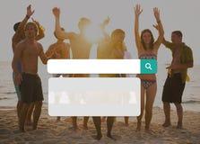Recherche recherchant le concept de technologie des communications d'Internet Photos stock