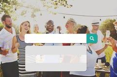 Recherche recherchant le concept de technologie des communications d'Internet Photo libre de droits