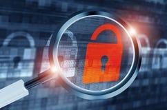 Recherche secrète de système Image libre de droits