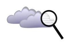 Recherche sur le calcul de nuage Photos stock