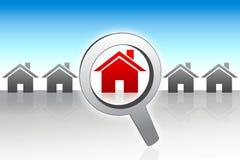 Recherche un concept à la maison neuf Images stock