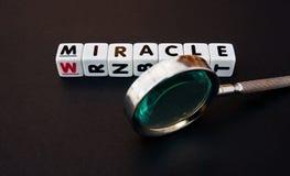 Recherche un miracle Image libre de droits