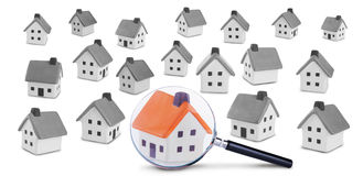 Recherche und Kontrolle des Hauses stockbilder