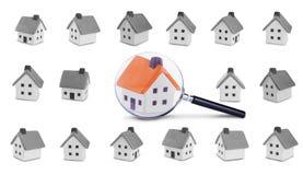 Recherche und Kontrolle des Hauses lizenzfreie stockfotos