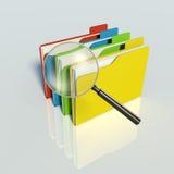 Recherche von Daten. Getrenntes 3D Lizenzfreie Stockbilder