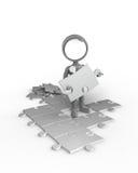 Rechercher-Homme - puzzle Image libre de droits