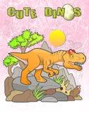 Recherches d'Allosaurus de proie Images stock