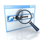 Recherchewebseite Lizenzfreies Stockbild