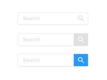 Recherchez le calibre d'icônes de vecteur d'élément de navigateur d'Internet de page Web de barre illustration libre de droits