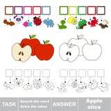 Recherchez le mot caché, le jeu éducatif simple d'enfant Images stock