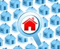 Recherchez une maison Image stock