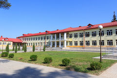 RECHITSA,白俄罗斯- 2015年6月3日:Rechitsa为孩子的住宿学校以伤残,街道Krasikov 40, 免版税库存照片
