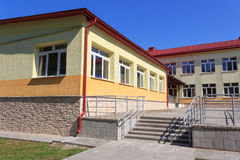 RECHITSA, BELARUS - June 3, 2015: Rechitsa boarding school for children with disabilities, street Krasikov 40, Stock Photos