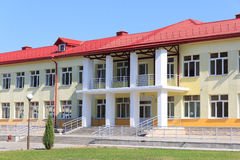 RECHITSA, BELARUS - June 3, 2015: Rechitsa boarding school for children with disabilities, street Krasikov 40, Royalty Free Stock Images