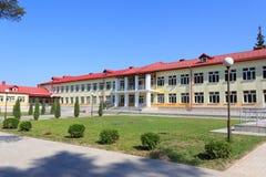 RECHITSA BIAŁORUŚ, Czerwiec, - 3, 2015: Rechitsa szkoła z internatem dla dzieci z kalectwami, uliczny Krasikov 40, zdjęcia royalty free