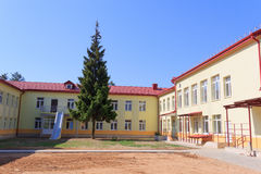 RECHITSA, WEISSRUSSLAND - 3. Juni 2015: Rechitsa-Internat für Kinder mit Unfähigkeit, Straße Krasikov 40, Lizenzfreie Stockfotografie