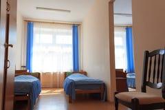RECHITSA, WEISSRUSSLAND - 3. Juni 2015: Rechitsa-Internat für Kinder mit Unfähigkeit, Straße Krasikov 40, Lizenzfreies Stockfoto