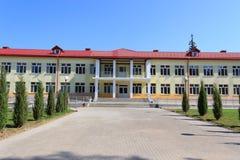 RECHITSA, WIT-RUSLAND - Juni 3, 2015: Rechitsa kostschool voor gehandicapte kinderen, straat Krasikov 40, Royalty-vrije Stock Afbeeldingen