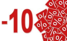 Rechnen Sie Kennsatz -10% ab Lizenzfreies Stockfoto