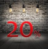 rechnen Sie 20 Prozent heruntergesetzt mit Sonderangebot des Textes Ihren Rabatt herein ab vektor abbildung