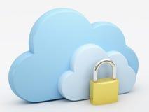 Rechnende Wolke, Sicherheit Lizenzfreies Stockbild
