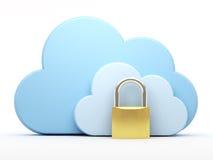 Rechnende Wolke, Sicherheit Stockfotos