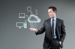 Rechnenkonzept der Wolke. lizenzfreie stockfotos