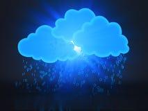 Rechnenkonzept der Wolke Lizenzfreies Stockbild