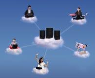 Rechnenkonzept der Wolke Stockfotografie