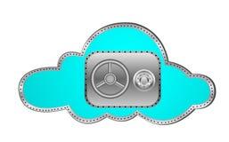 Sicherheits-Wolken-Datenverarbeitung Lizenzfreie Stockfotos