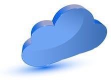 Rechnensymbol der Wolke Stockfoto