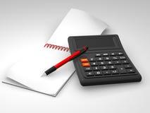 Rechner, Notizbuch lizenzfreie abbildung
