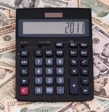 Rechner und Geld Lizenzfreies Stockbild