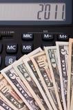 Rechner und Geld Lizenzfreie Stockbilder