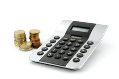 Rechner und Geld Lizenzfreie Stockfotos
