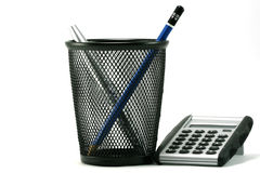 Rechner und Penholder Lizenzfreie Stockbilder