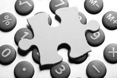 Rechner und Puzzlespiel Lizenzfreies Stockbild